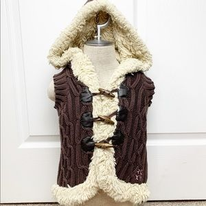 Roxy Kids Girl Knit Faux Fur Lined Vest